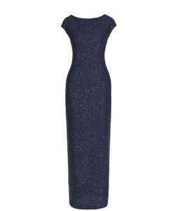 St. John | Приталенное Платье-Макси С Пайетками