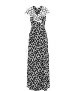 Diane Von Furstenberg | Шелковое Платье-Макси С Запахом И Принтом
