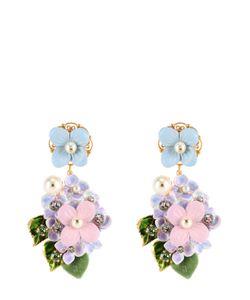 Dolce & Gabbana | Серьги-Клипсы С Цветочным Декором И Кристаллами Swarovski