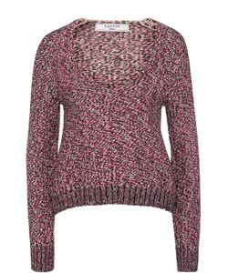Lanvin | Пуловер Фактурной Вязки С V-Образным Вырезом