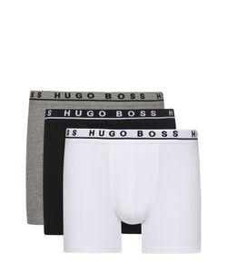 BOSS | Комплект Из Трех Хлопковых Боксеров С Широкой Резинкой