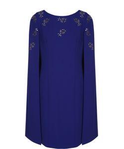 St. John | Приталенное Платье-Миди С Кейпом