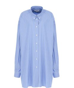 Maison Margiela   Удлиненная Хлопковая Блуза В Полоску