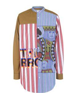 Stella Mccartney | Удлиненная Хлопковая Рубашка Свободного Кроя