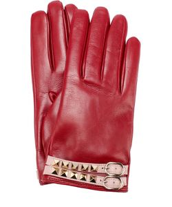 Valentino | Кожаные Перчатки С Декором