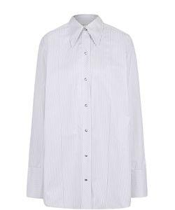 Helmut Lang | Хлопковая Блуза Свободного Кроя В Полоску