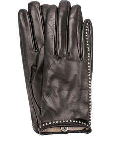Sermoneta Gloves | Кожаные Перчатки С Металлической Отделкой