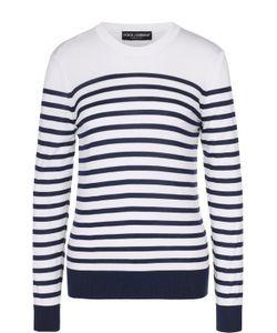 Dolce & Gabbana | Шелковый Пуловер Прямого Кроя В Полоску