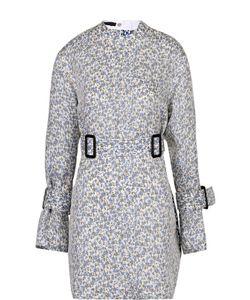 Calvin Klein Collection | Шелковая Блуза Свободного Кроя С Поясом И Цветочным Принтом Calvin Klein