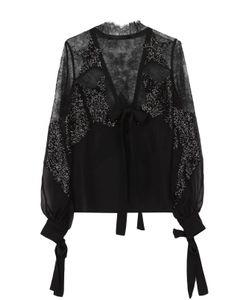 Elie Saab | Кружевная Полупрозрачная Блуза С Пайетками