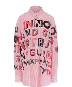 Maison Margiela | Блуза Свободного Кроя С Контрастными Надписями