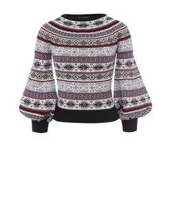 Alexander McQueen | Пуловер С Круглым Вырезом И Укороченным Рукавом