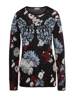 Dries Van Noten | Хлопковый Пуловер С Контрастным Принтом