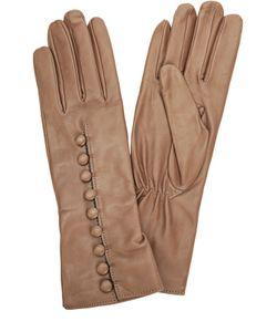 Sermoneta Gloves | Кожаные Перчатки С Декоративными Пуговицами