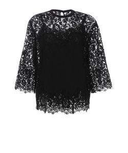 Dolce & Gabbana | Шелковый Кружевной Топ С Укороченным Рукавом