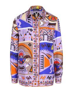 Emilio Pucci | Шелковая Блуза Прямого Кроя С Ярким Принтом