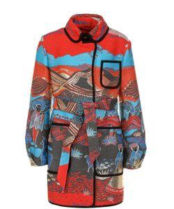 Giorgio Armani | Приталенное Пальто С Вышивкой И Поясом