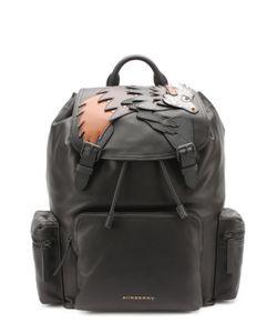 Burberry | Кожаный Рюкзак С Аппликацией