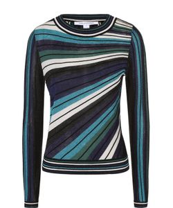 Diane Von Furstenberg | Пуловер В Полоску С Металлизированной Отделкой