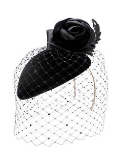 Philip Treacy | Фетровая Шляпа С Декоративной Сеточкой И Цветком