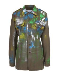 FORTE COUTURE | Блуза Прямого Кроя С Накладными Карманами И Декоративной Отделкой