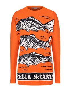 Stella Mccartney | Пуловер Прямого Кроя С Круглым Вырезом И Принтом