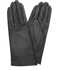 Agnelle | Кожаные Перчатки С Подкладкой Из Шелка
