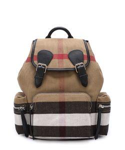 Burberry | Рюкзак Из Клетчатого Текстиля С Кожаной Отделкой
