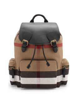 Burberry | Текстильный Рюкзак С Кожаной Отделкой