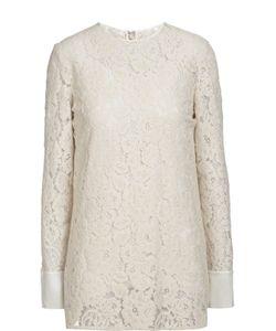 Lanvin | Кружевная Блуза Прямого Кроя С Круглым Вырезом