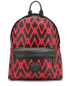 Versace | Кожаный Рюкзак С Контрастной Отделкой