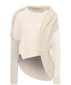 Burberry | Шерстяной Пуловер Асимметричного Кроя