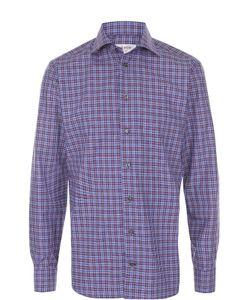 Eton | Хлопковая Рубашка В Клетку С Воротником Кент