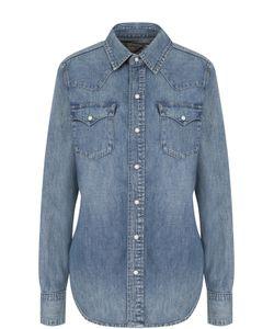 Polo Ralph Lauren | Приталенная Джинсовая Блуза С Потертостями