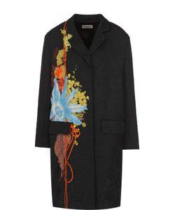 Dries Van Noten | Пальто Прямого Кроя С Фактурной Отделкой И Принтом