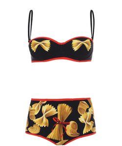 Dolce & Gabbana | Раздельный Купальник С Контрастной Отделкой И Принтом