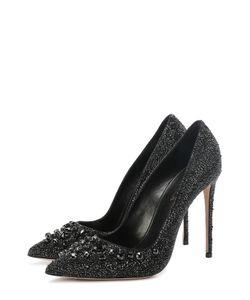 Le Silla | Кожаные Туфли Со Стразами На Шпильке
