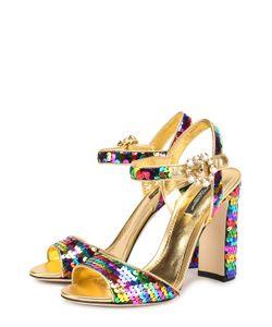Dolce & Gabbana | Босоножки Keira Из Металлизированной Кожи С Пайетками