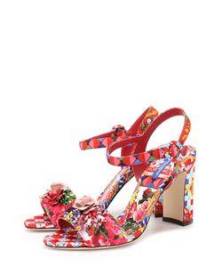 Dolce & Gabbana | Босоножки Keira Из Текстиля С Принтом И Аппликациями