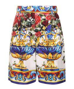 Dolce & Gabbana | Шелковые Мини-Шорты С Принтом