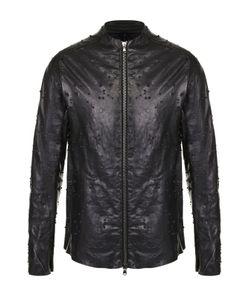 Masnada | Кожаная Куртка На Молнии С Фактурной Отделкой