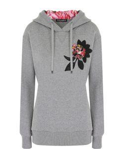 Dolce & Gabbana | Водолазка С Фактурной Цветочной Отделкой И Капюшоном