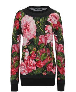 Dolce & Gabbana | Кашемировый Пуловер Прямого Кроя С Принтом