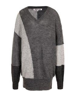 Mcq Alexander Mcqueen | Удлиненный Пуловер Свободного Кроя С V-Образным Вырезом