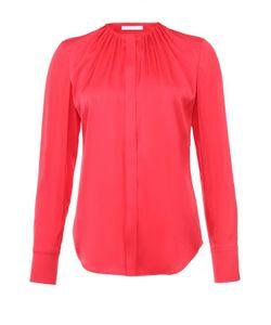 BOSS | Приталенная Блуза С Круглым Вырезом И Защипами