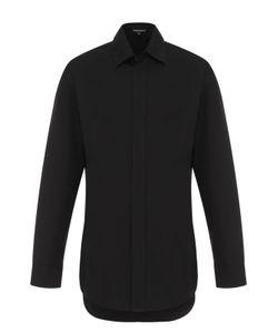 Ann Demeulemeester | Удлиненная Хлопковая Рубашка Свободного Кроя