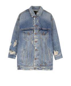 R13   Джинсовая Куртка С Укороченным Рукавом И Потертостями