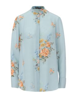 Alexander McQueen | Шелковая Блуза Прямого Кроя С Цветочным Принтом