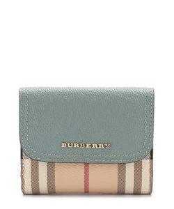Burberry | Бумажник Из Зернистой Кожи И Ткани В Клетку Haymarket Сheck