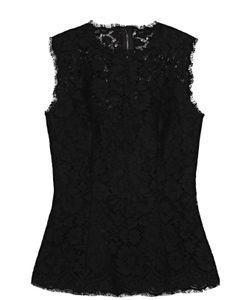 Dolce & Gabbana | Приталенный Кружевной Топ Без Рукавов